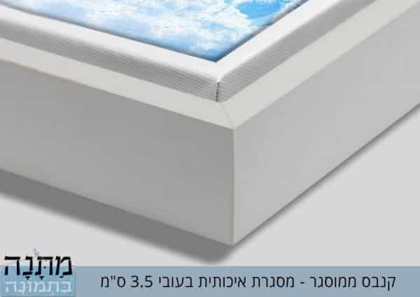 """קנבס ממוסגר - מסגרת איכותית 3.5 ס""""מ"""