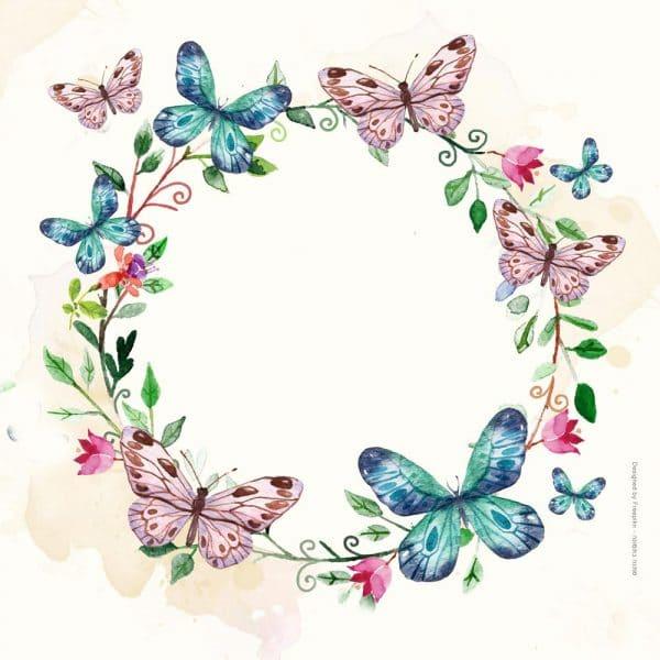 1002- מעגל פרחים ופרפרים