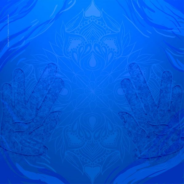 1006-כפיים פרושות כחול
