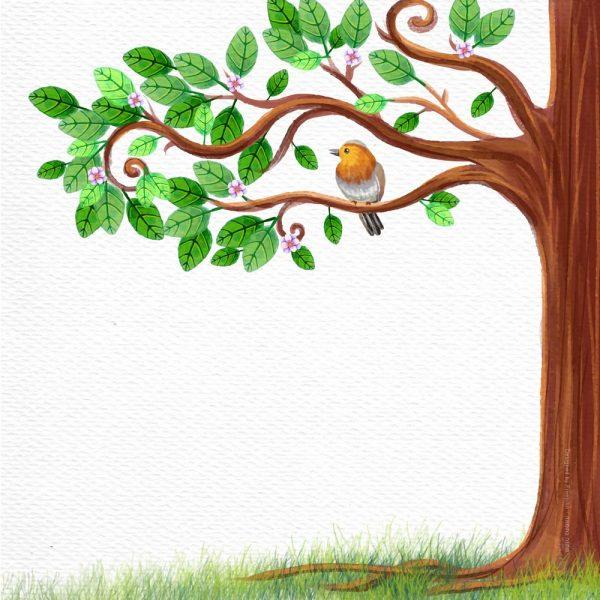 1009-ציפור על עץ