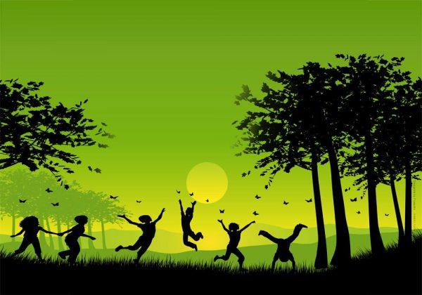 1011-ילדים-צלליות-ירוק