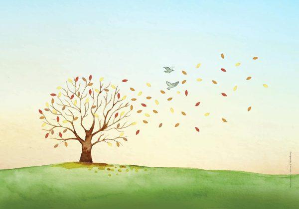 1014-עץ בשלכת ציור