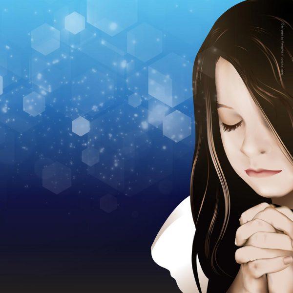 1022-תפילת הילדה - כחול
