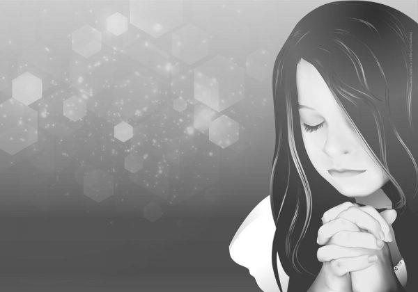 1023-תפילת הילדה - אפור