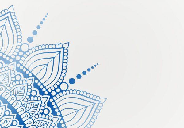 1024-תחרה כחול על לבן