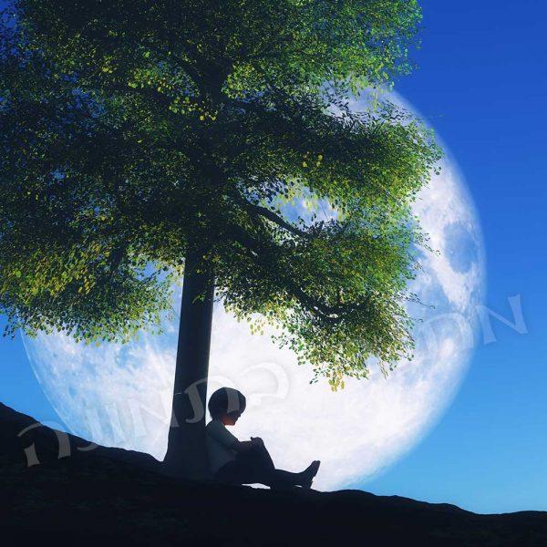 ילד עץ ירח