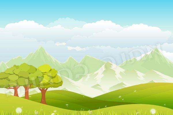 נוף הרים ושלג