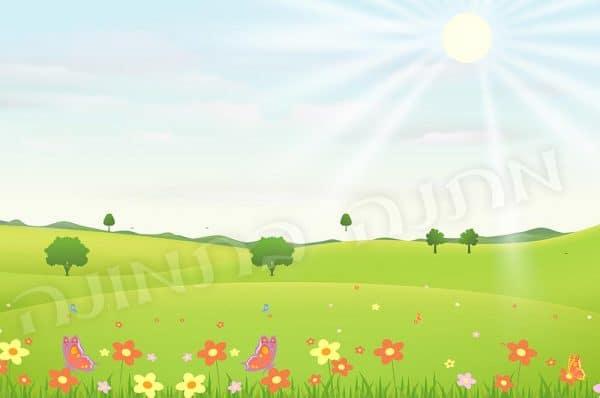שדה אביבי בשמש
